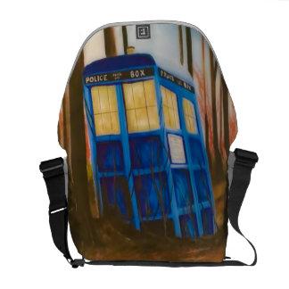 Telephone box messenger bags