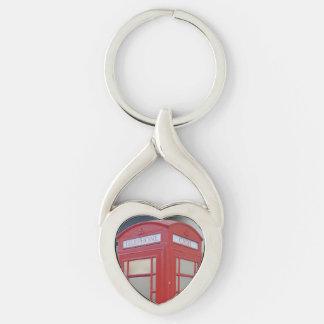 Telephone Cabin London Heart Keychain