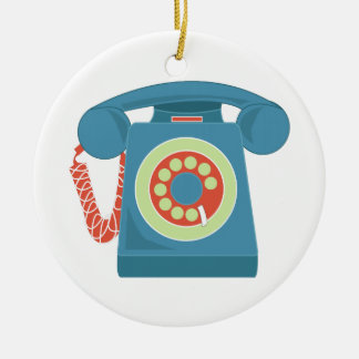 Telephone Ceramic Ornament