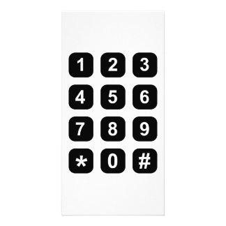 Telephone dial numbers custom photo card