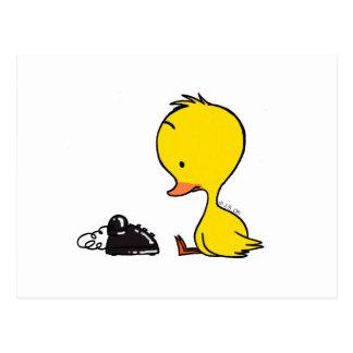 Telephone & Duck Postcard