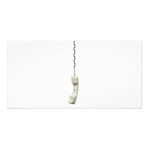 Telephone handset photo greeting card
