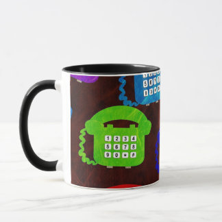 Telephone Pattern Mug
