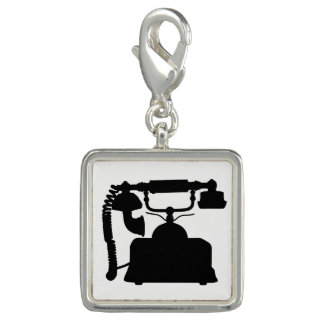 Telephone Silhouette Charm