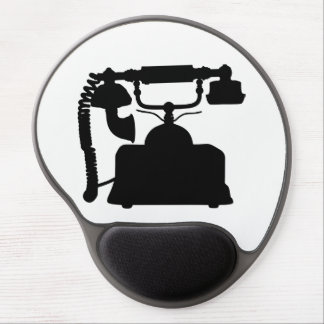 Telephone Silhouette Gel Mouse Pad