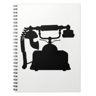 Telephone Silhouette Notebook