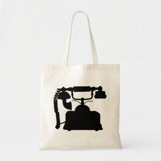 Telephone Silhouette Tote Bag