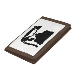 Telephone Silhouette Tri-fold Wallets