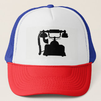 Telephone Silhouette Trucker Hat