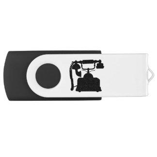 Telephone Silhouette USB Flash Drive