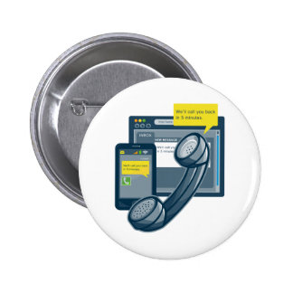 Telephone Smartphone Website Call Back 2 Inch Round Button