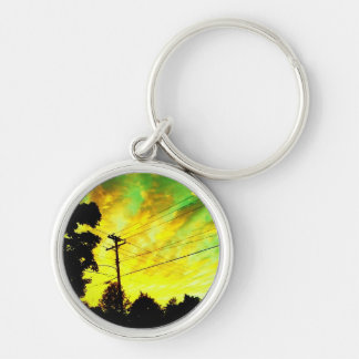telephone sunset keychain