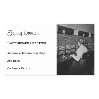 Telephone Switchboard Operator Business Cards
