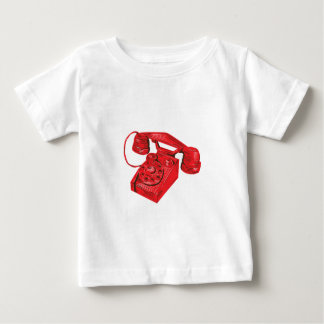 Telephone Vintage Drawing Baby T-Shirt
