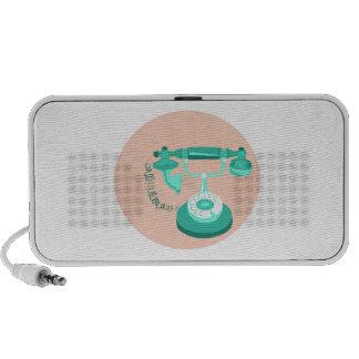 Téléphone vintage haut-parleurs mobiles