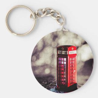 TelephoneBox.jpg Basic Round Button Keychain