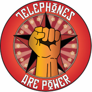 Telephones Are Power Photo Sculpture Ornament