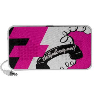 Telephonez-Moi Téléphone attaché par pourpre vin Haut-parleurs Ordinateur Portable