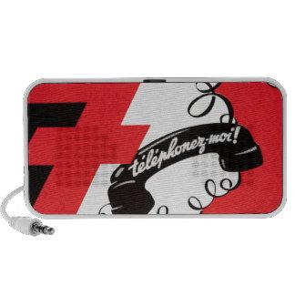 Telephonez-Moi Téléphone attaché par rouge vinta Haut-parleurs PC