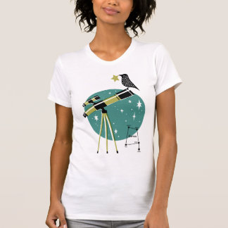 Telescope and Bird T-Shirt