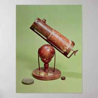 Télescope appartenant à monsieur Isaac Newton 1671 Posters