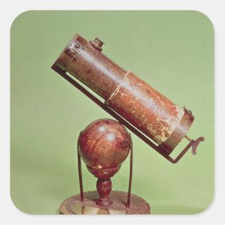 Télescope appartenant à monsieur Isaac Newton 1671 Autocollants Carrés