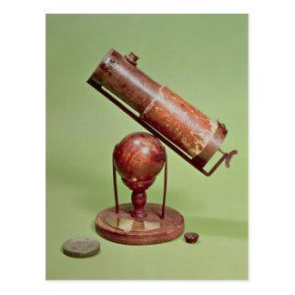 Télescope appartenant à monsieur Isaac Newton 1671 Carte Postale