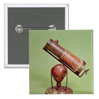Télescope appartenant à monsieur Isaac Newton 1671 Macaron Carré 5 Cm