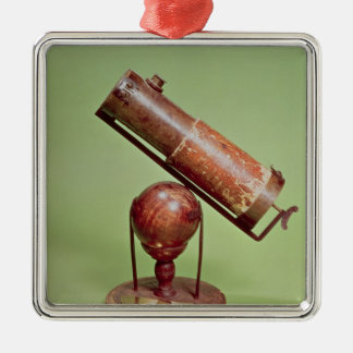 Telescope belonging to Sir Isaac Newton  1671 Silver-Colored Square Ornament