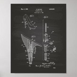 Telescopic Heel 1960 Patent Art Chalkboard Poster