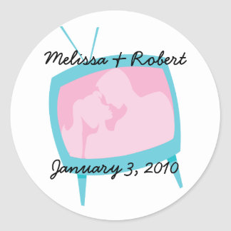 Television Moments Classic Round Sticker