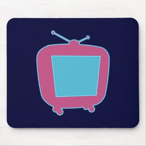 Television neon advertisement tv neon sign mouse pads