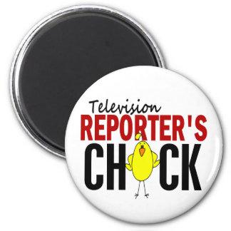 Television Reporter s Chick Fridge Magnet