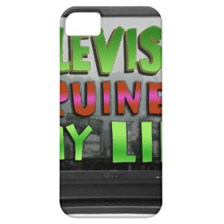 TELEVISION RUINED MY LIFE (YaWNMoWeR) iPhone 5 Case