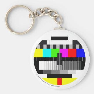 Television/Television/TV Basic Round Button Keychain
