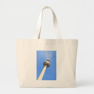 Television Tower (Fernsehturm) in Berlin, Germany Large Tote Bag