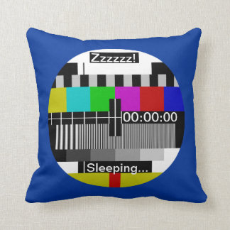 Television - Tv stand by test card Throw Pillow