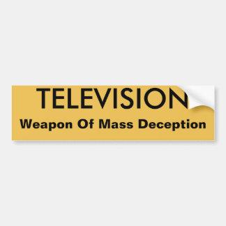 Televison and Deception Bumper Sticker Car Bumper Sticker