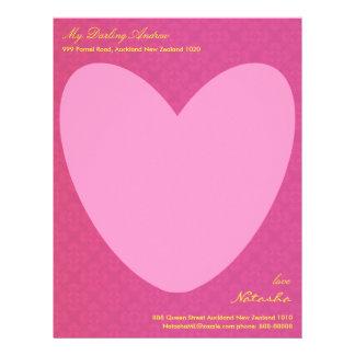 Tell him through your heart letter head letterhead