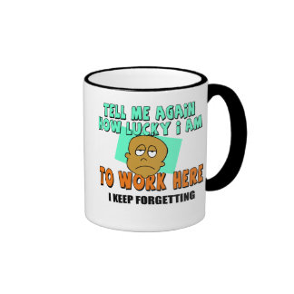 Tell Me How Lucky I Am T-shirts and Gifts Ringer Coffee Mug