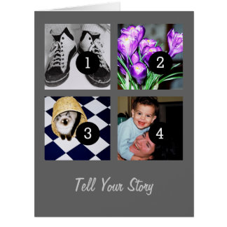 Tell Your Story Create Your Own Instagram 8 images Card