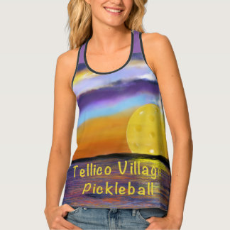 Tellico Village Pickleball Sunset Tank Top