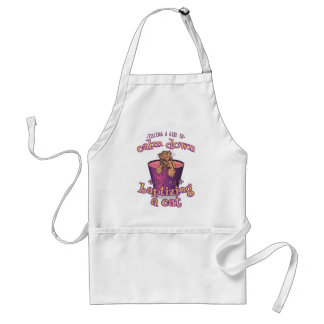 Telling A Girl To Calm Down Is Like Baptizing A Ca Standard Apron