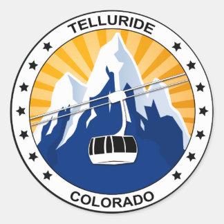 Telluride Colorado Classic Round Sticker