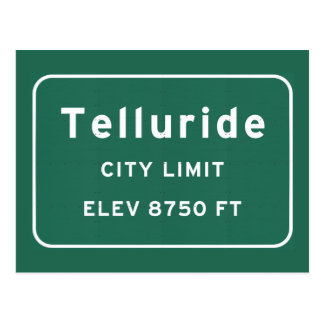 Telluride Colorado co Interstate Highway Freeway : Postcard
