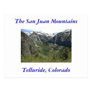 Telluride, Colorado, The San Juan Mountains Postcard