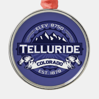 Telluride Midnight Logo Metal Ornament