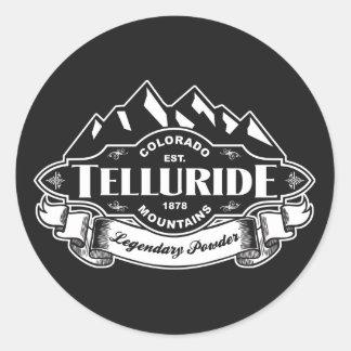 Telluride Mountain Emblem Classic Round Sticker