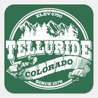 Telluride Old Circle Green Square Sticker