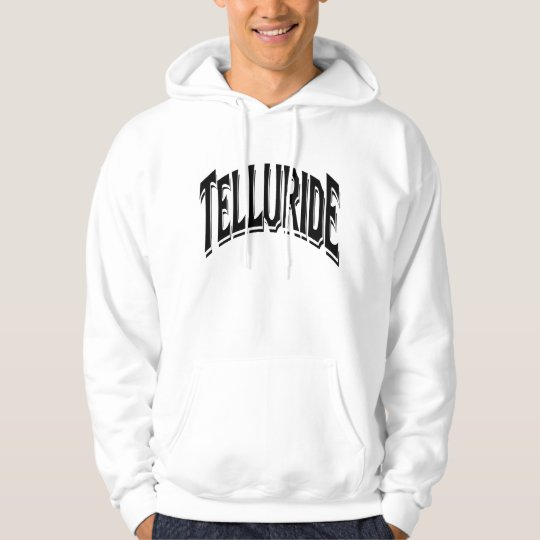 Telluride Shadow Logo For White Hoodie